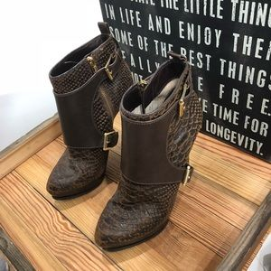 Michael Kors Embossed Python Booties